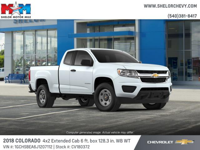 New 2018 Chevrolet Colorado 2WD Ext Cab 128.3 Work Truck RWD Extended Cab Pickup
