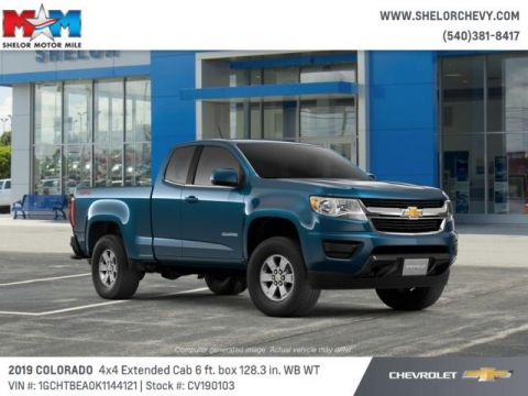 New 2019 Chevrolet Colorado 4WD Ext Cab 128.3 Work Truck