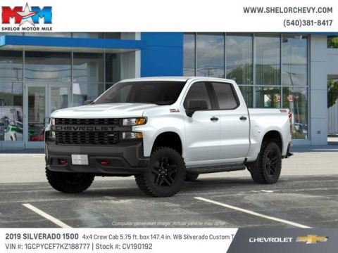 New 2019 Chevrolet Silverado 1500 4WD Crew Cab 147 Custom Trail Boss