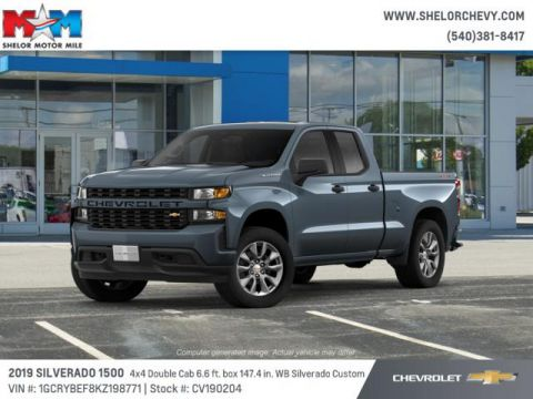 New 2019 Chevrolet Silverado 1500 4WD Double Cab 147 Custom