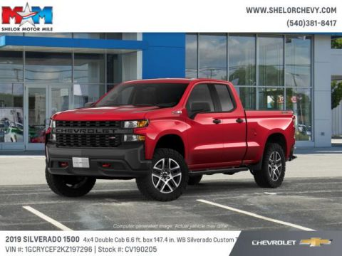 New 2019 Chevrolet Silverado 1500 4WD Double Cab 147 Custom Trail Bo